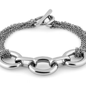 Stainless Steel Big Link Chain Bracelet